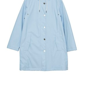 blue rain coat jacket