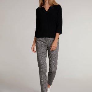 oui trousers black white Tralee