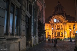 Bucharest Old Town Evening