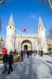 The entrance of the Topkapi Palace in Istanbul Turkey