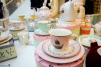 Cute teaset at the Carturesti Carusel Bookstore in Bucharest