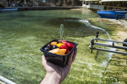 Delicious fruit salad in Xlendi Bay in Gozo Malta