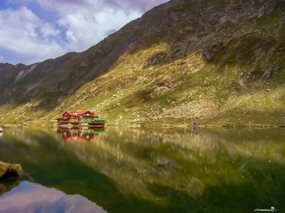 Balea lake - the last stop on the Transfagarasan road