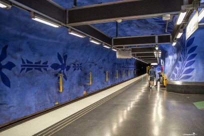 The gorgeous subway stations in Stockholm