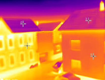 Infrared thermal imaging - houses thermal reading