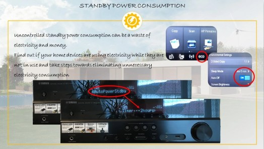 Standby power consumption at home
