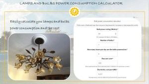 Lamp electricity consumption calculator