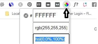 Color picker Chrome extension