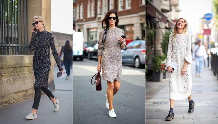Como usar vestidos cortos en invierno