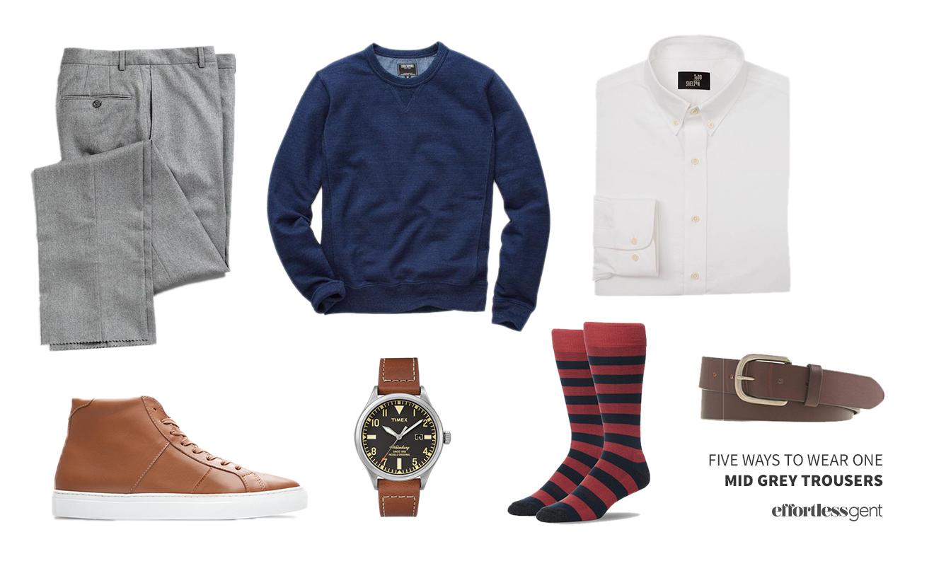 Five Ways to Wear It: Mid-Grey Trousers