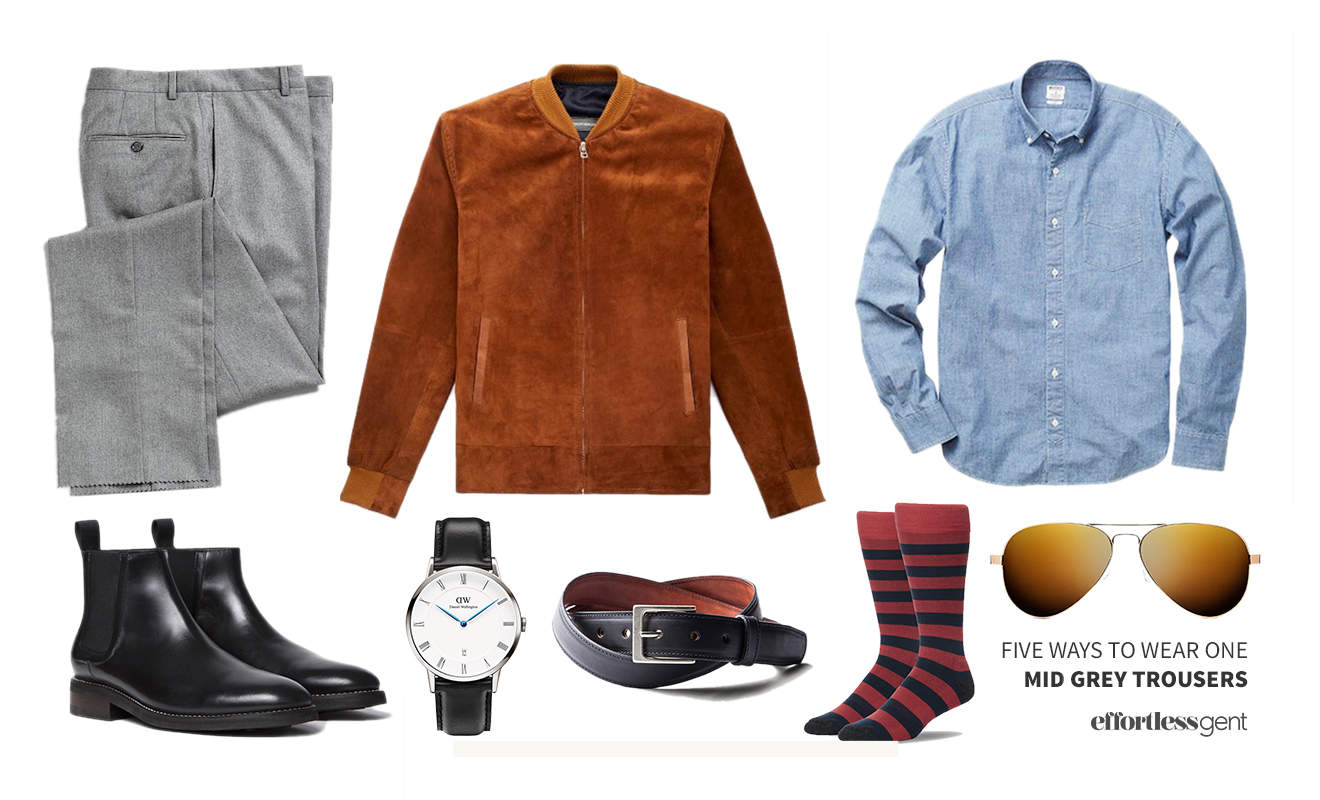 Five Ways to Wear One: Mid-Grey Trousers