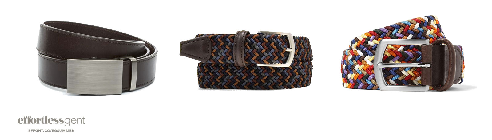 belts - summer clothes for men - effortless gent
