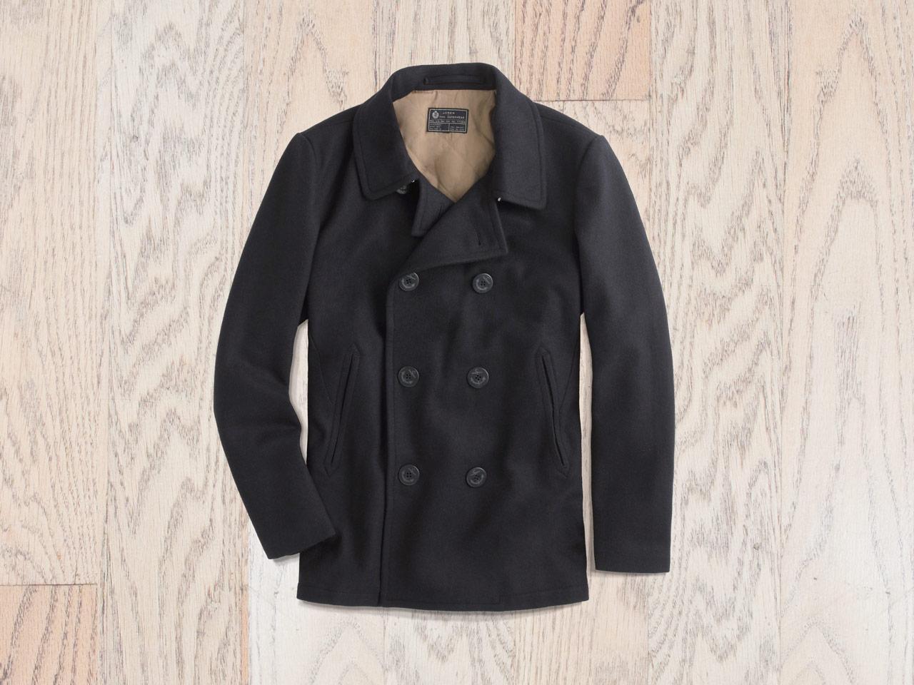 effortless essentials minimalist wardrobe - outerwear_peacoat