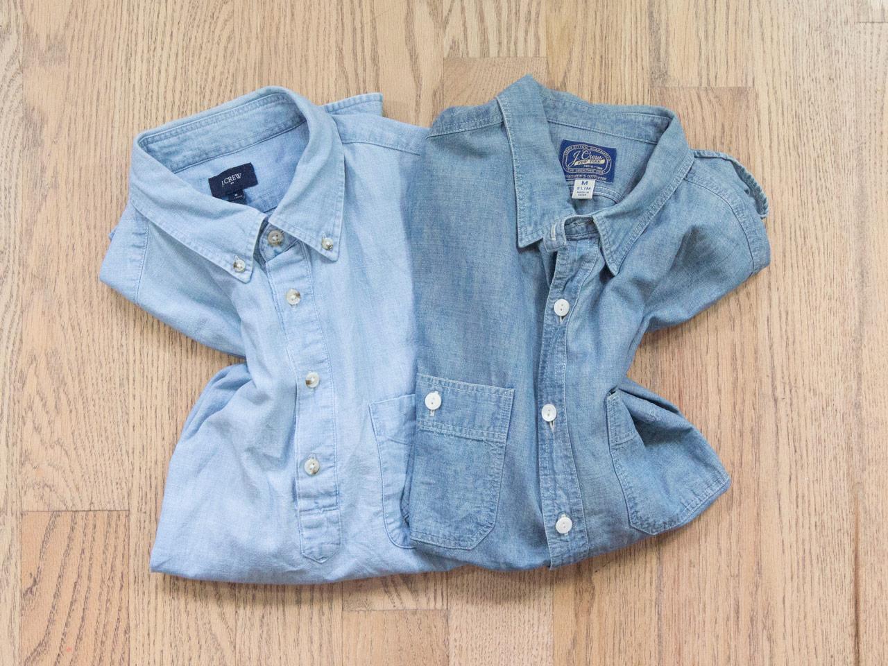 effortless essentials minimalist wardrobe - chambray shirts