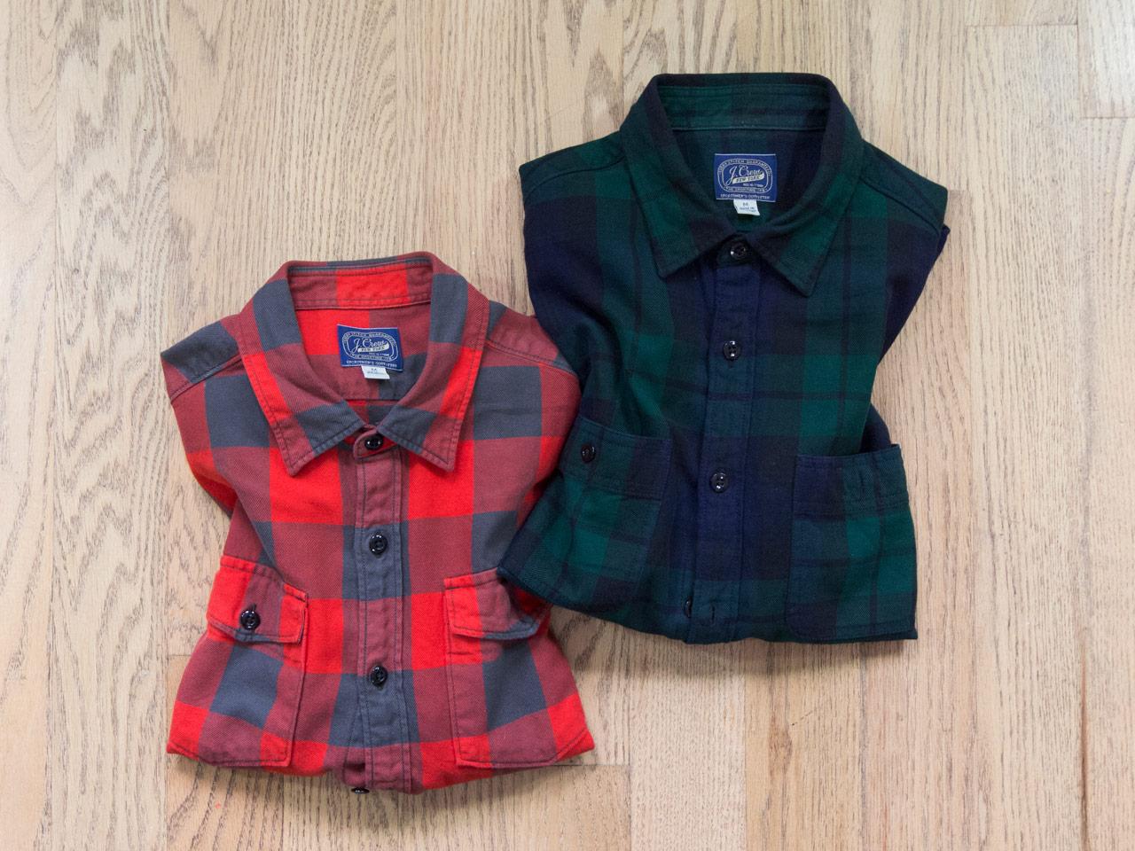 effortless essentials minimalist wardrobe - plaid flannel shirts