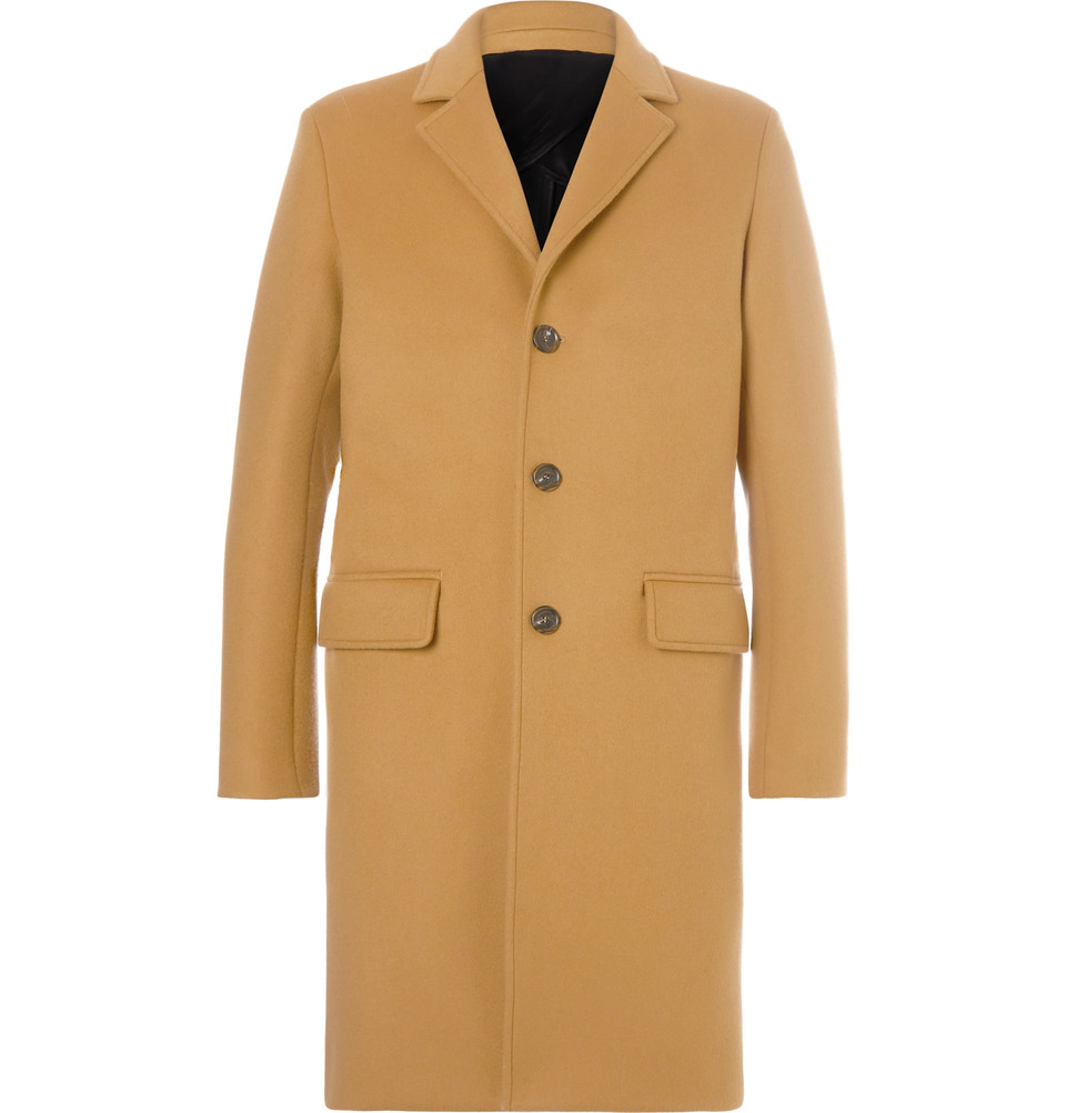Mr. P. Camel-Colored Felt Overcoat