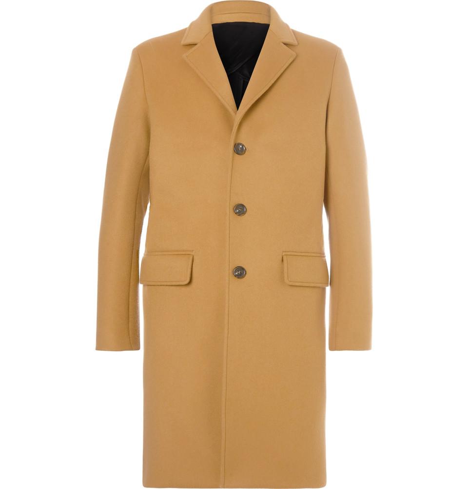 Mr. P. Camel-Colored Felt Overcoat