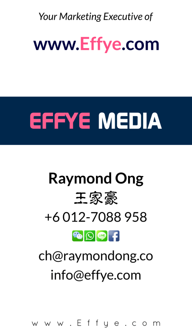 Raymond Ong Effye Media Segamat Website Design Online Media Advertising Web Development Education Webpage Facebook eCommerce Management Photo Shooting Malaysia NC03