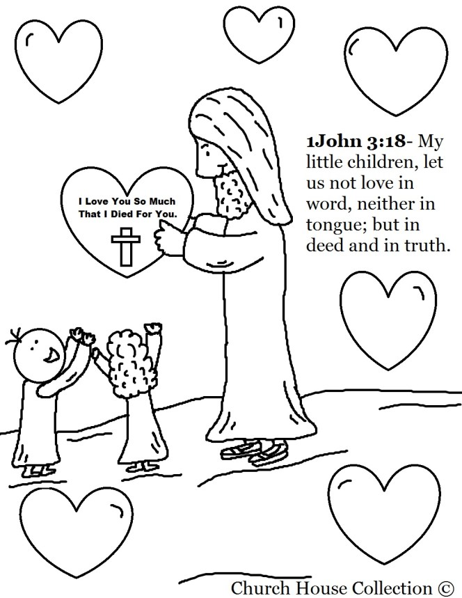 Jesus Christ Coloring Images Sunday School Images for You to Fill with Colour A12