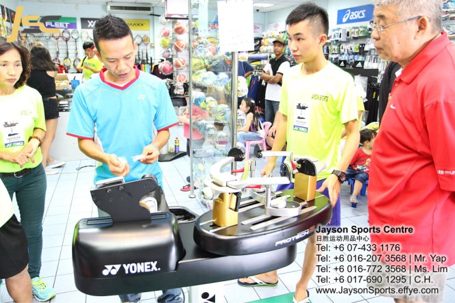 Yonex Protech8 Electric Badminton and tennis Stringing Machines Batu Pahat Jayson Sports Centre Pusat Sukan Batu Pahat 日胜运动用品中心 Batu Pahat Johor Malaysia CA13