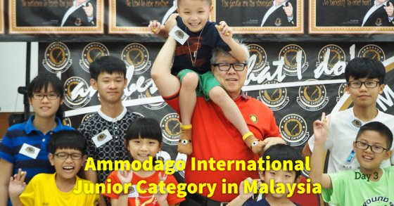 Day 3 of Ammodago International - Junior Category in Malaysia - Master David Goh at Gereja Joy Sogo 苏雅喜乐堂