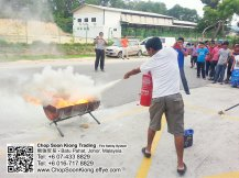 Malaysia Johor Batu Pahat Fire Extinguisher Prevention Equipment Chop Soon Kiong Trading 顺強贸易 Safety Somke Alarm Fire Prevention Protection Fire Hose Reel Bomba 灭火器-B04