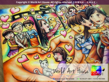 World Art House Children Education Kota Damansara Petaling Jaya Kuala Lumpur Malaysia Watercolors Wood strokes Crayons Sketches Oil paintings Posters 世界艺术画室 八打灵再也 B