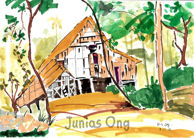 Junias Ong Painting Dwawing Sketching World 王静凝 图画 素描 彩绘 A01