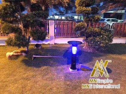 pembunuh nyamuk berkuasa solar untuk luar dan dalam rumah pemasangan percuma alat bunuh nyamuk elektrik 22