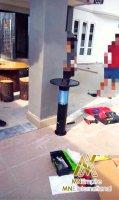 pembunuh nyamuk berkuasa solar untuk luar dan dalam rumah pemasangan percuma alat bunuh nyamuk elektrik 23