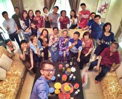 Raymond Ong Effye Ang Family Gathering at Melaka Malaysia Matthew Ong House Chinese New Year 2018 农历新春2018 家庭聚会 A007
