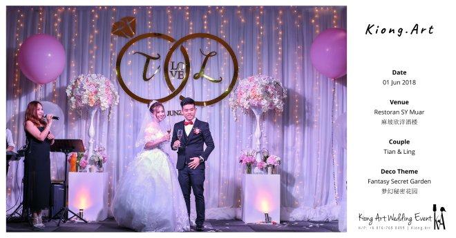 Kiong Art Wedding Event Kuala Lumpur Malaysia Event and Wedding Decoration Company One-stop Wedding Planning Services Wedding Theme Fantasy Secret Garden Restoran SY Muar A03-49