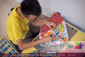 Malaysia Kota Damansara Petaling Jaya Kuala Lumpur Selangor Chinese New Year Charity Coloring Contest World Art House 世界艺术画室 and 1 Utama Shopping JinYeYe Effye Media C093