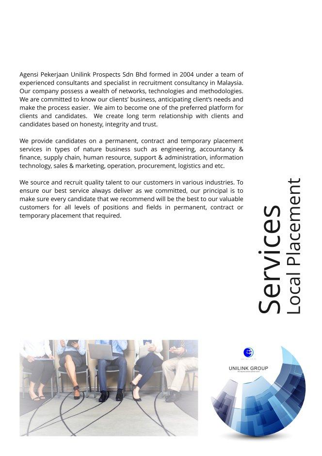 Company Profile of Agensi Pekerjaan Unilink Prospects Sdn Bhd Director Datin Sri Fun See Hoon Datin Sri Ivy Malaysia A06