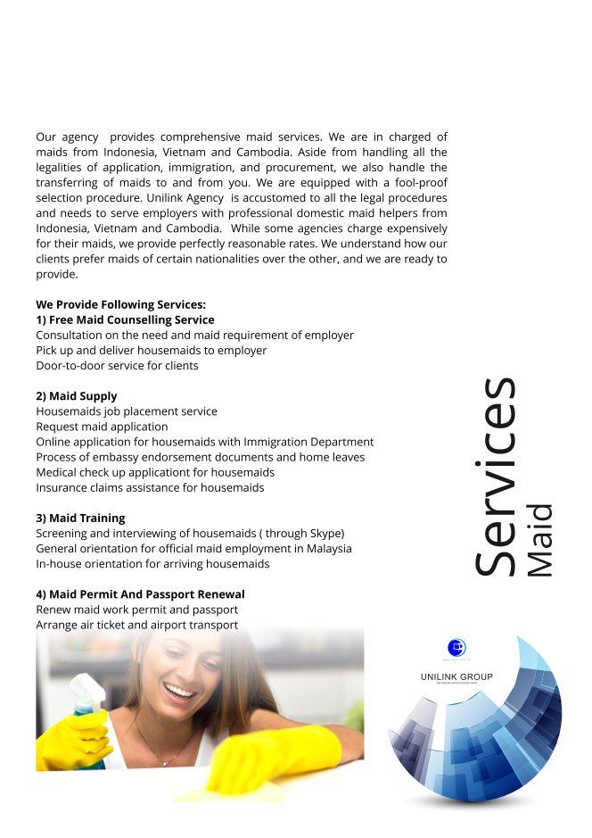 Company Profile of Agensi Pekerjaan Unilink Prospects Sdn Bhd Director Datin Sri Fun See Hoon Datin Sri Ivy Malaysia A08