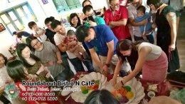 峇株巴辖自助餐龙猫特色中西餐厅 复古式建筑咖啡厅 马来西亚柔佛峇株巴辖地标交通圈小酒馆 公司聚会 Batu Pahat Roudabout Bistro N Cafe PC01-01