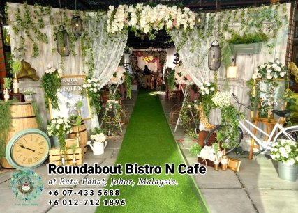 峇株巴辖自助餐龙猫特色中西餐厅 复古式建筑咖啡厅 马来西亚柔佛峇株巴辖地标交通圈小酒馆 公司聚会 Batu Pahat Roudabout Bistro N Cafe PC01-12