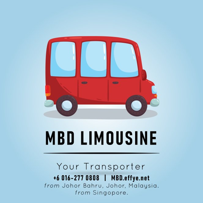 MBD Limousine Johor Bahru Transport and Car Rental Malaysia Transport and Car Rental Singapore Transport and Car Rental Transport between Malaysia and Singapore Logo A02