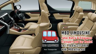MBD Limousine Johor Bahru Transport and Car Rental Malaysia Transport and Car Rental Singapore Transport and Car Rental Transport between Malaysia and Singapore PA01-08