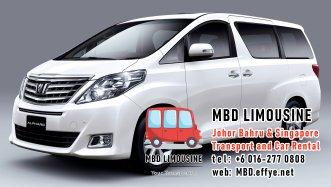 MBD Limousine Johor Bahru Transport and Car Rental Malaysia Transport and Car Rental Singapore Transport and Car Rental Transport between Malaysia and Singapore PA01-09