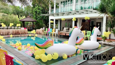 Victor Lim Birthday 2018 in Malaysia Party Buffet Swimming Fun A25