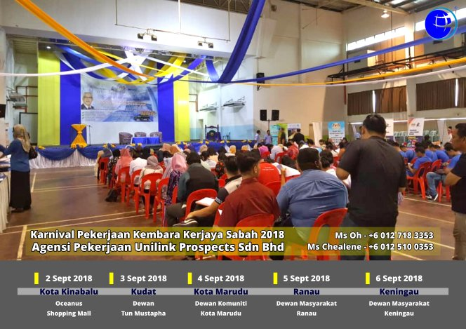 Malaysia Karnival Pekerjaan Kembara Kerjaya Sabah 2018 Agensi Pekerjaan Unilink Prospects Sdn Bhd 专业合法人力资源介绍所 A08