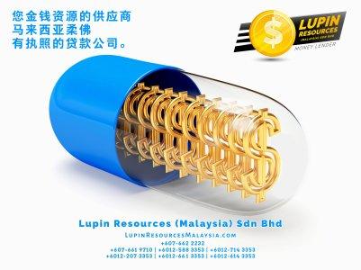 柔佛有执照的贷款公司 Lupin Resources Malaysia SDN BHD 您金钱资源的供应商 古来 柔佛 马来西亚 个人贷款 商业贷款 低利息抵押代款 经济 A01-37