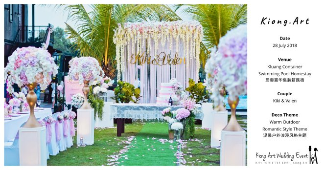 Kiong Art Wedding Event Kuala Lumpur Malaysia Wedding Decoration One-stop Wedding Planning Warm Outdoor Romantic Style Theme Kluang Container Swimming Pool Homestay A07-C00-02