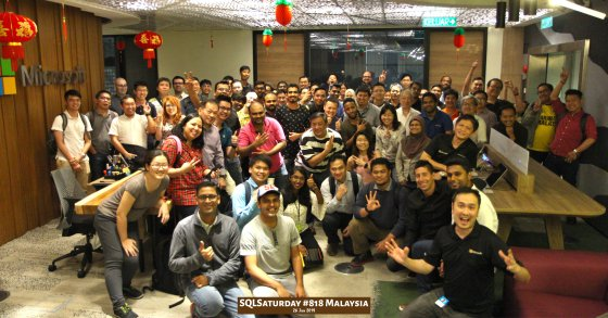 SQLSaturday 818 Malaysia 26 Jan 2019 at Microsoft Malaysia SQLSaturday is a training event for SQL Server professionals and those wanting to learn about SQL Server PA000
