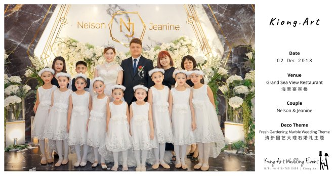Malaysia Kuala Lumpur Wedding Event Kiong Art Wedding Deco Decoration One-stop Wedding Planning of Nelson and Jeanine Wedding at Grand Sea View Restaurant A11-A00-02