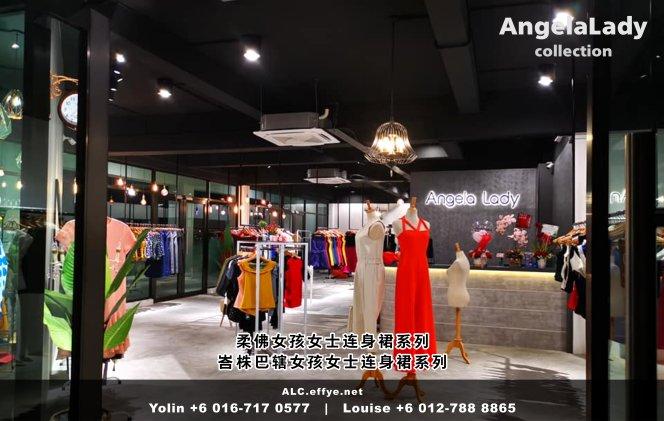 柔佛峇株巴辖 女孩女士连身裙 Angela Lady Collection 女士晚装 长裙 晚礼服 晚礼服裙 潮流精品 时尚饰品 女士服装衣服 牛仔裤 裙子 裤子 马来西亚 A01-002