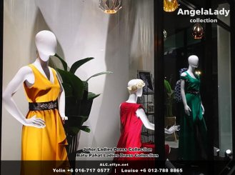 Johor Batu Pahat Ladies Dress Boutique Angela Lady Collection Dinner Dress Evening Gown Maxi Dress Evening Dress Gown Boutique Fashion Lady Apparel Clothes Jeans Skirt Pants Malaysia A01-013