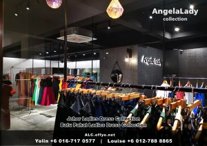 Johor Batu Pahat Ladies Dress Boutique Angela Lady Collection Dinner Dress Evening Gown Maxi Dress Evening Dress Gown Boutique Fashion Lady Apparel Clothes Jeans Skirt Pants Malaysia A01-017