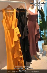 Johor Batu Pahat Ladies Dress Boutique Angela Lady Collection Dinner Dress Evening Gown Maxi Dress Evening Dress Gown Boutique Fashion Lady Apparel Clothes Jeans Skirt Pants Malaysia A01-018